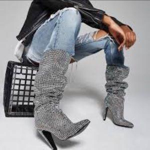 NWT- Steve Madden rhinestone boots